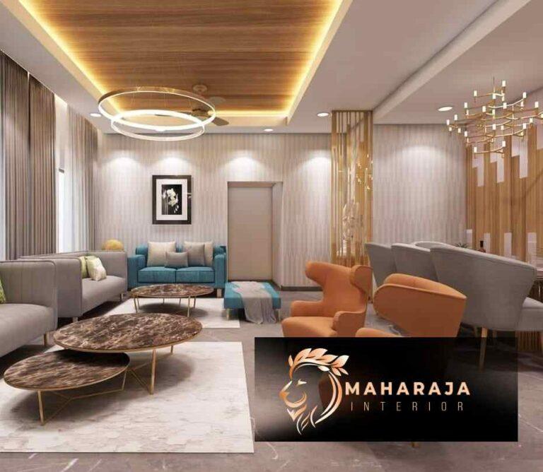 MODERN LIVING & DINING ROOM INTERIOR DESIGN IDEAS BY THE BEST INTERIOR DESIGNER COMPANY – MAHARAJA INTERIORS